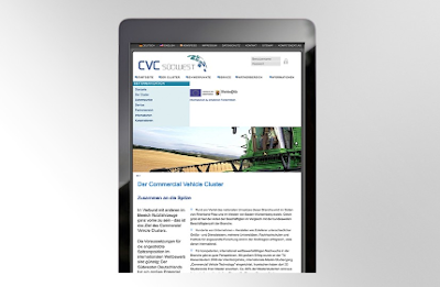Tablet with opend CVC newsletter
